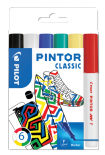 Classic Colours Pack of Fine Pilot Pintor Paint Markers